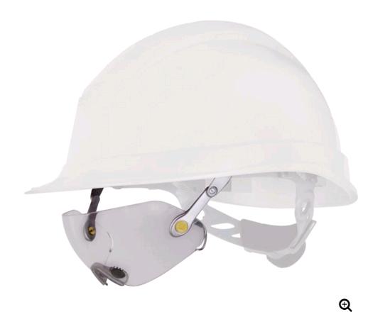 Lunette polycarbonate pour casque de chantier